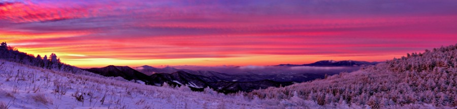Roan Highland Sunrise Panorama