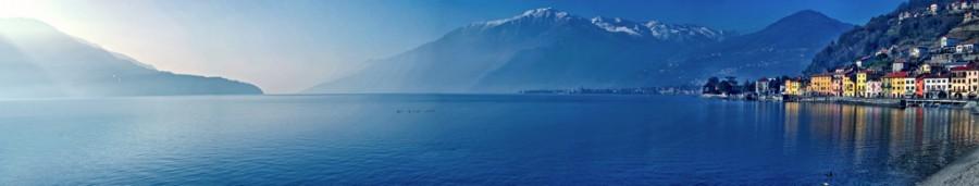Lago di como - vista panoramica di domaso e alto algo