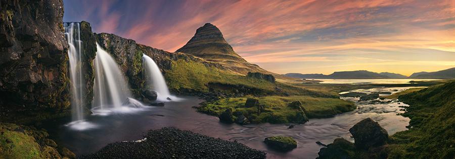 Bob Kim - Kirkjufellsfoss Sunrise Iceland - 2014 Epson Pano Gold Award Winner