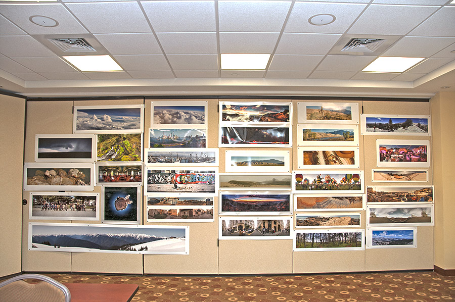 Wall of the panoramic competition images.