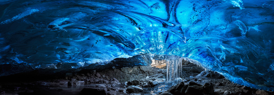 Laurent Lacroix - Blue Ice Cave Stalactite - 2014 Epson Pano Silver Award Winner