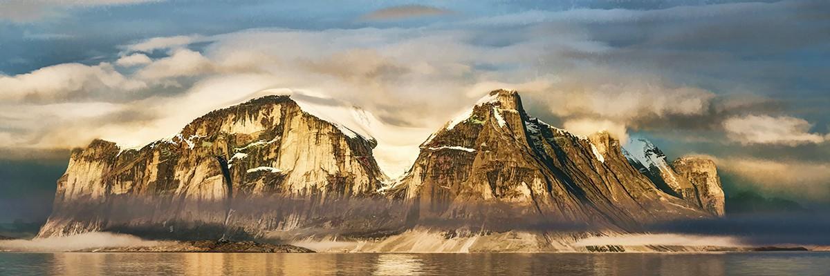 Buchan Gulf, Baffin Island, Nunavut, Canada Simplify